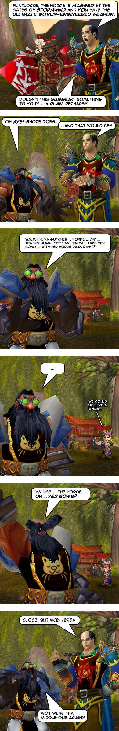 The Dwarf makes a plan